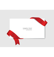 Cards with red ribbons vector image vector image