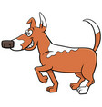 cartoon spotted dog funny animal character vector image vector image
