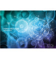 cell and dna background with interface elements vector image vector image
