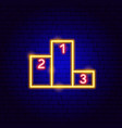 competition neon sign vector image vector image