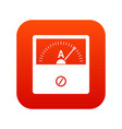 counter icon digital red vector image vector image