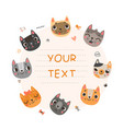 cute background for text with cats vector image vector image