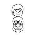 cute little baby with heart vector image