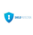 cyber security concept shield with keyhole icon vector image vector image