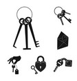 design of key and protection symbol set o vector image