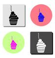 dessert flat icon vector image vector image