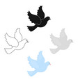 dove icon for web and vector image