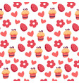 easter seamless pattern with egg and sweet cake vector image vector image