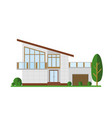 family house modern vector image