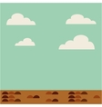 field landscape isolated icon vector image vector image