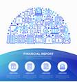 financial report concept in half circle vector image vector image