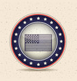 flag inside button of vote concept vector image vector image