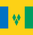 flag of saint vincent and the grenadines official vector image