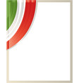 frame with italian flag glass vector image vector image