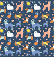 funny dogs pattern in outfits vector image vector image