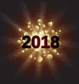 gold glitter happy new year 2018 vector image vector image
