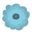 hand drawing light blue color flower with several vector image vector image