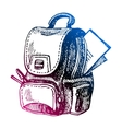 Hand drawn back to school sketch vector image vector image