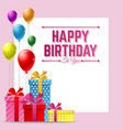 happy birthday greeting card background with vector image vector image