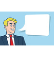 Happy smiling businessman with empty vector image