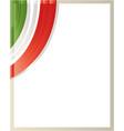 italian flag border corner vector image vector image