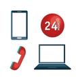 laptop customer service call center design vector image vector image