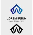 Letter w logo icon design template vector image vector image