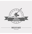 Military logo badges Cannon Graphic template vector image vector image