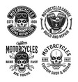motorcycles set emblems labels or badges vector image