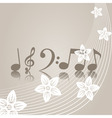 musical symbols vector image