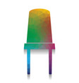 office chair sign colorful icon with vector image vector image