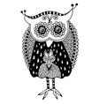 original artwork of owl ink hand drawing in ethnic vector image vector image