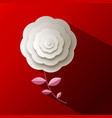 paper rose flower on red background vector image