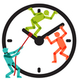 People Team Stopping Clock Arrows vector image vector image