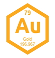 Periodic table gold vector image vector image
