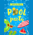 pool party invitation top vector image