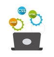 programming language design vector image vector image