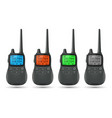 radio transceiver set of 3d models with shadow vector image
