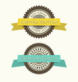 retro vintage badges set classic design elements vector image
