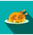 Roasted turkey icon vector image vector image