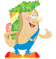 Sandwich cartoon vector image