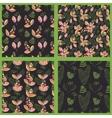 Scandinavian Floral Pattern Set vector image