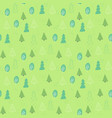 seamless pattern of green tree in hand drawn style vector image vector image