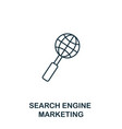 search engine marketing icon thin line style vector image vector image