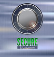 secure ssl connection 3d with digital vector image