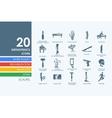 Set of orthopedics icons vector image vector image
