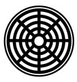 sewer icon on white background sewer icon for vector image