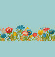 simply spring garden flowers on blue background vector image