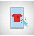 smartphone shopping online clothes graphic vector image vector image