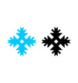 snowflake icon for new year and christmas in vector image vector image